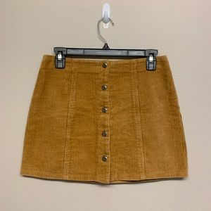 Golden Corduroy Skirt